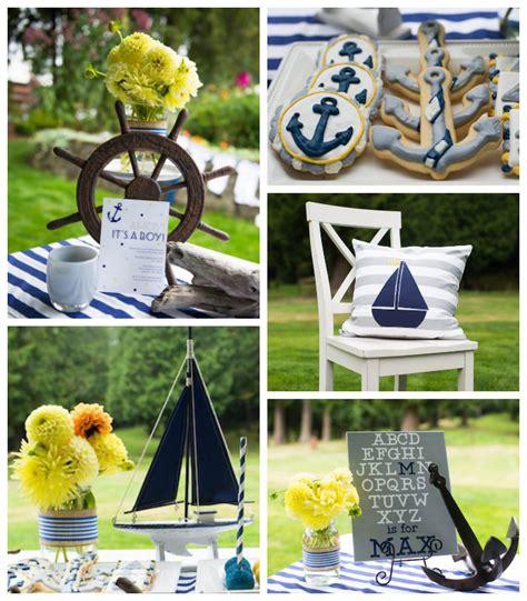 nautical baby shower decorations ideas kara s ideas nautical baby shower via kara s
