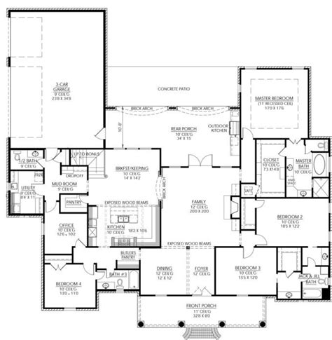entertaining house plans 653326 great country plan with outdoor