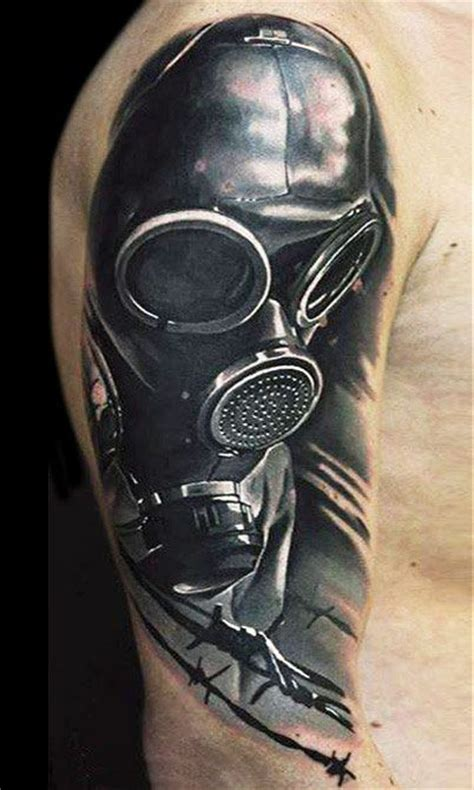tattoo nightmares gas mask masks photos and tattoo photos on pinterest