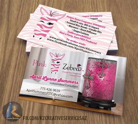 Pink Zebra Business Cards Style 2 183 Kz Creative Services 183 Online Store Powered By Storenvy Pink Zebra Business Card Template Free