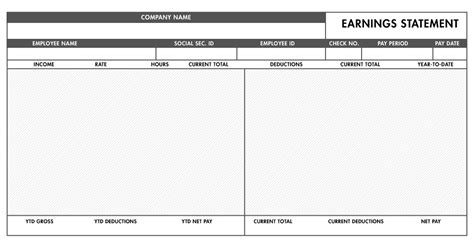 free basic paystub template excel download paystub