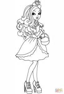 coloring pages of apple white ever after high apple coloring page free printable