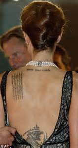 tattoos that represent children angelina jolie pitt reveals symbolic new tattoo at the cambodia film festival daily mail online