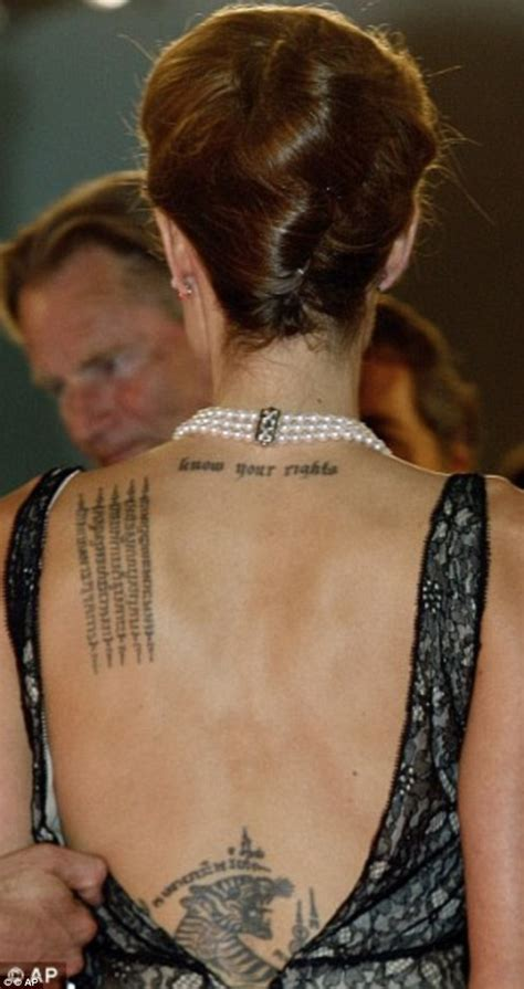 angelina jolie tiger tattoo pitt reveals symbolic new at the