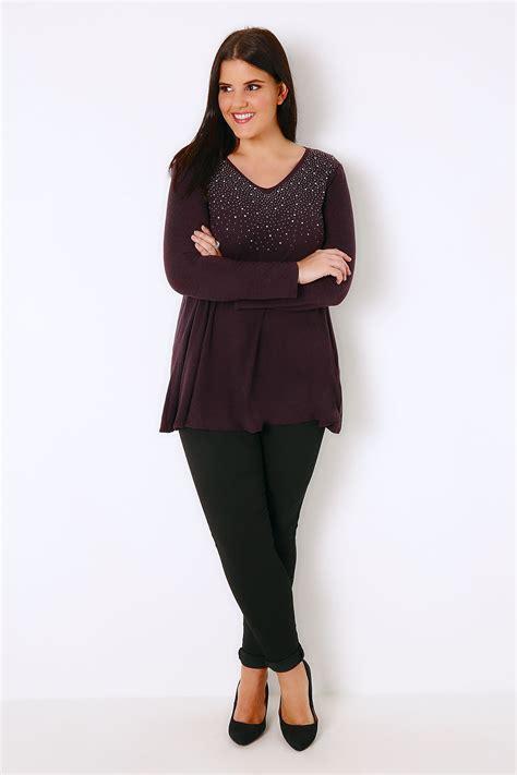 Embellisments Ukuran 16 7 X 18 5 Kode 14 2019 Baby Set purple swing top with diamante stud embellishment plus size 16 to 36