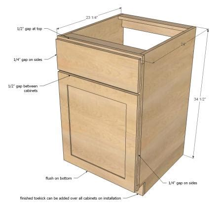 kitchen base cabinet plans ana white build a face frame base kitchen cabinet