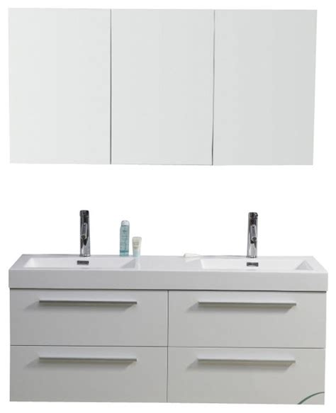 54 bathroom vanity double sink 54 inch modern double sink bathroom vanity modern