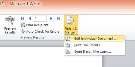 membuat mail merge office 2010 cara membuat mail merge di microsoft office word 2010