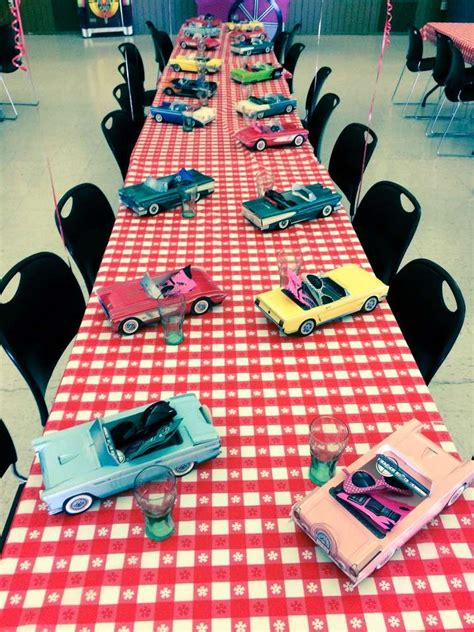 50 s table decorations 50 s diner soda shop retro birthday birthday ideas retro birthday retro
