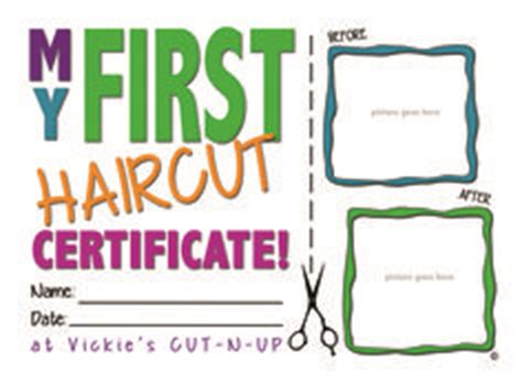 haircut certificate template haircut certificate free my cakepins stuff
