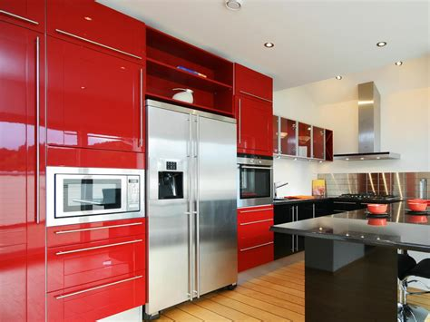 colourful kitchen cabinets red kitchen cabinets pictures ideas tips from hgtv hgtv