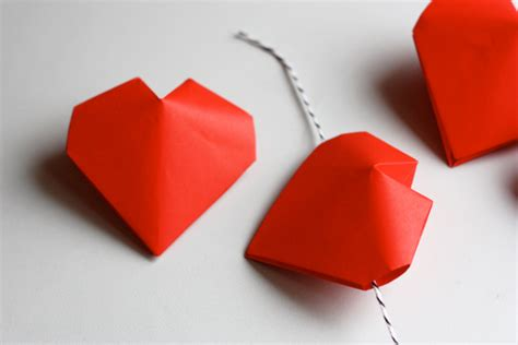 Origami 3d Hearts - 3d origami hearts how about orange