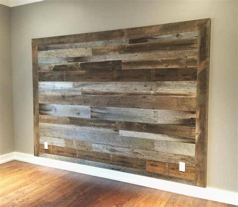 Barnwood Headboard by Wood Company Of Three Headboard Accent Walls