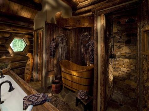 log cabin bathroom decor log cabin bathroom homes pinterest