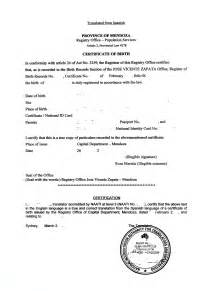 Translation Of Mexican Birth Certificate To English Template Best Photos Of Birth Certificate Translation English