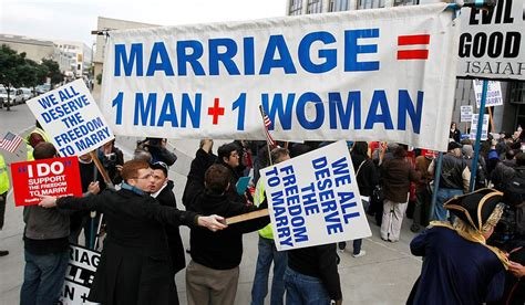 Christian Groups Plan Anti Celebration by Demonstrators For And Against Same Marriage Protest