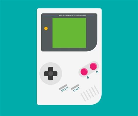Free Flat Gameboy Psd Template Titanui Gameboy Label Template