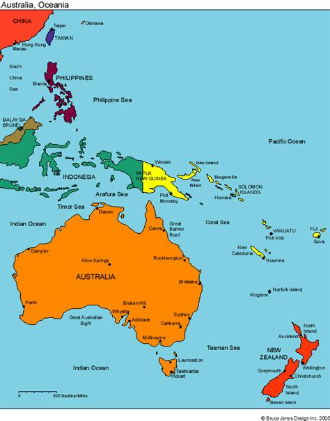 australia and oceania map maps for design editable clip powerpoint maps