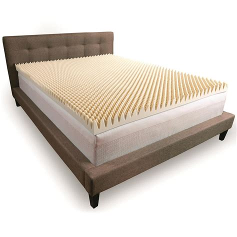 3 Memory Foam Mattress Topper by Comfort Revolution Convoluted Memory Foam Mattress Topper