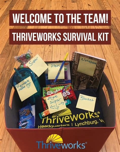 Welcome Kit new employee welcome kit thriveworks office photo