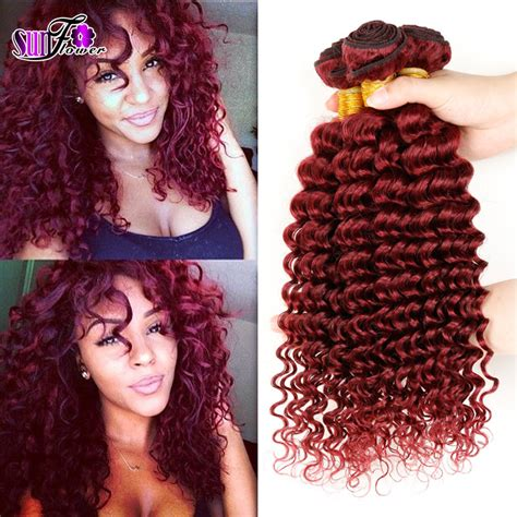 hair extensions wet and wavy look beautiful cexxy peruvian virgin hair wet and wavy red