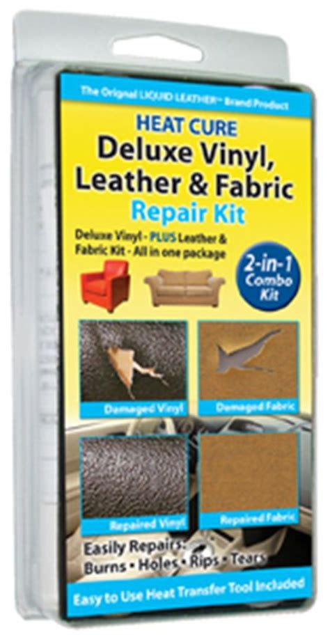 deluxe leather and vinyl repair kit with fabric and