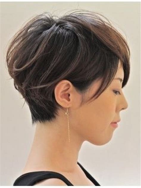 short hair volume on top longer in frint stacked back pixie with long front short hairstyle 2013