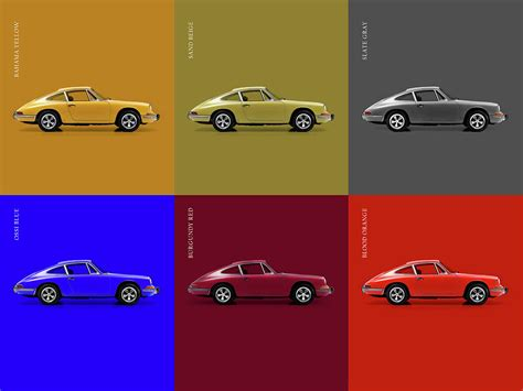 vintage orange porsche classic porsche 911 colours photograph by mark rogan