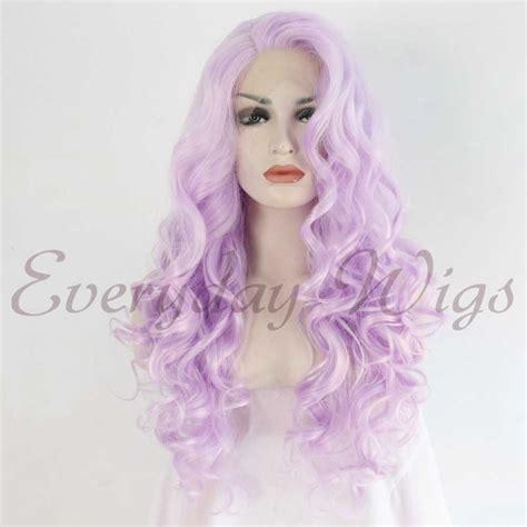Light Purple Wig by 24 Light Purple Wavy Synthetic Lace Front Wig Edw1045