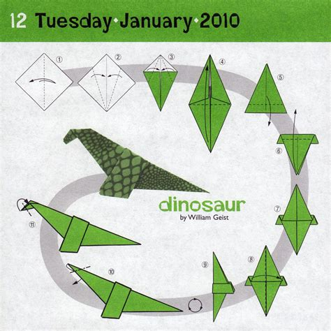 How To Make Paper Dinosaurs - origami dinosaur diagrams 171 embroidery origami