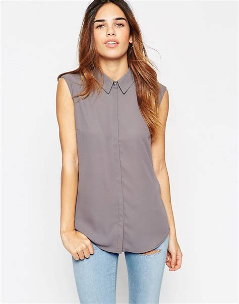 P Blouse Tunik Calista 1 asos asos sleeveless blouse at asos
