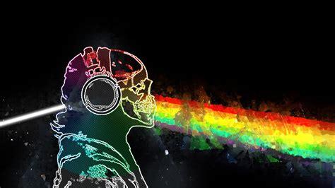 skull  bones rainbows prisma  pink floyd
