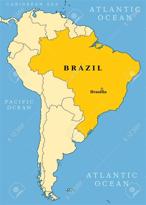 south america map brazil brazil on world map suggests me