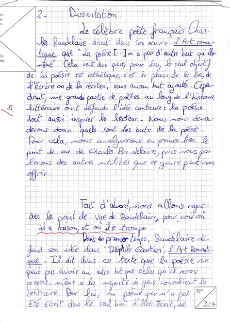 Présentation Lettre Bac Francais Dissertation Francais Exemple