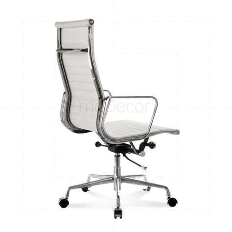 eames office chair high back ribbed leather white eames office chair high back ribbed leather white 163 316