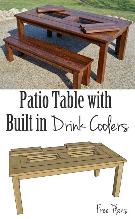 patio table with built in cooler 17 best ideas about patio cooler on diy cooler deck cooler and cooler stand