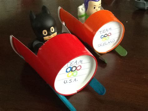Paper Craft For Boys - olympic play paper cup bobsled cool craft idea
