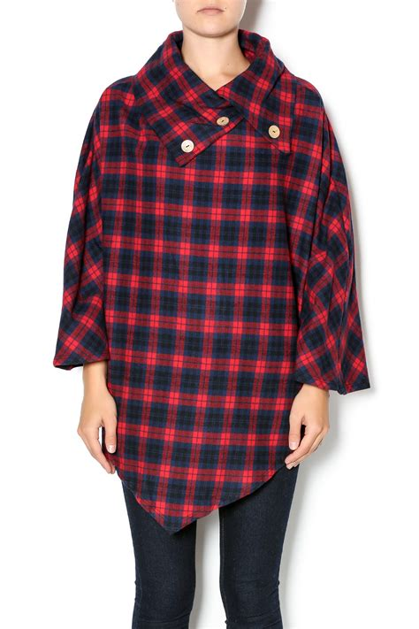 plaid poncho million bullpup plaid flannel poncho from tennessee by