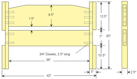 twin headboard plans twin size bed frame plan 2d version