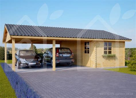 Sheds With Carports by Wooden Carport With A Shed Is To Your Garden