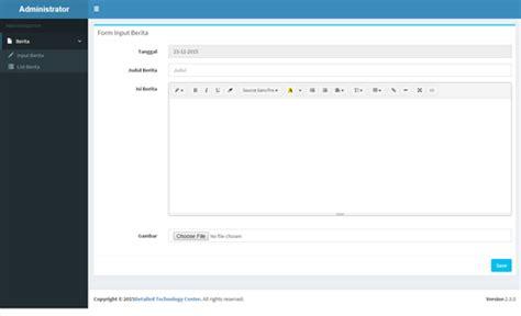 membuat website berita php mysql membuat dashboard admin berita dengan php mysql