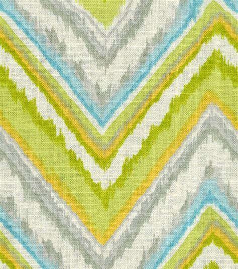 joann fabrics curtains home decor print fabric dena chevron charade citrus jo ann
