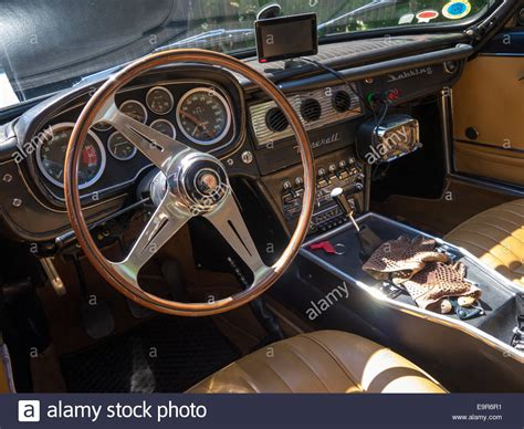 maserati sports car interior interior of a classic maserati sebring sports car with