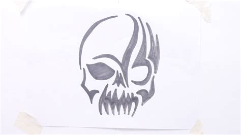 skull with tribal tattoo easy to draw skull tattoos www pixshark images