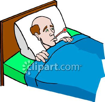 bettdecke side his side sick clipart bed clipart pencil and in color sick
