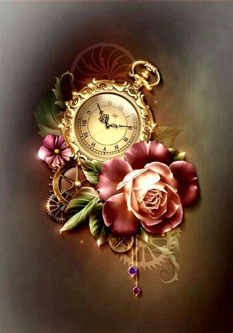 pocket watch with roses tattoo vintage pocket roses цветы