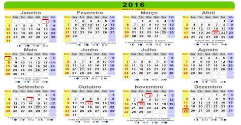 calend 225 2016 feriados nacionais brasil melhor