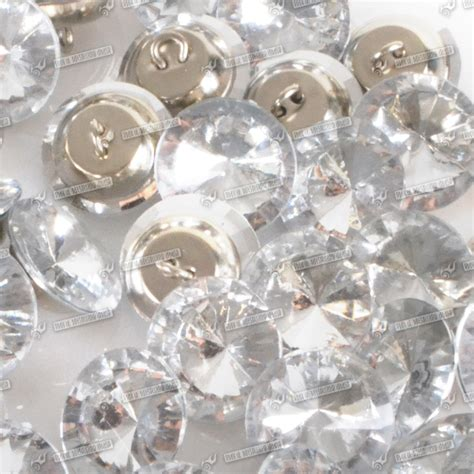 upholstery buttons uk 50 100x 20 25mm glass crystal rhinestone diamante buttons