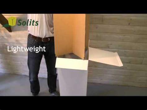 plinth or pedestal made of cardboard
