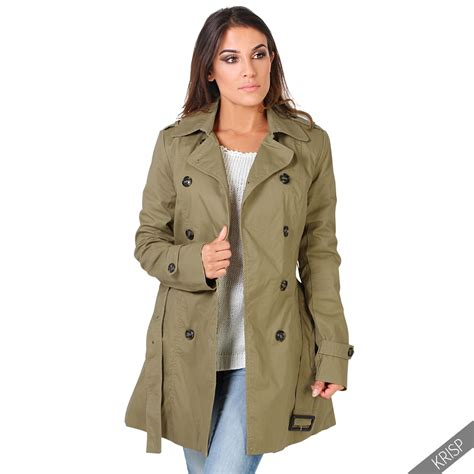 Trench Jacket womens stylish trench coat tailored fit belted